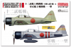 FineMolds FP34 1/72 Mitsubishi A6M1 12-Shi Experimental Zero Fighter (Prototype) & A6M2a Zero Fighter Type 11 (2 kits)
