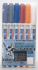 Mr Hobby GMS112 Gundam Marker Real Touch Set 1 (5 Colors + 1 Blur Pen)