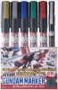 Mr Hobby GMS121 Gundam Metallic Marker Set (6 Color)