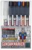 Mr Hobby GMS122 Gundam Marker Set [Pour Type] (5+1 Color)