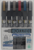 Mr Hobby GMS126 Gundam Marker Fine Tip Set 2 (6 Color)