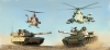 Italeri 6117 1/72 Gulf War 25th Anniversary Battle Set (M1A1 Abrams - AH-1W Supercobra - T-62 - Mi-25 Hind-D)