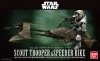 Bandai 0196693 1/12 Scout Trooper & Speeder Bike [Starwars]