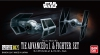 Bandai VM007(0214502) Vehicle Model 007 Tie Advanced x 1 & Tie Fighter [Starwars] (2 Kits)